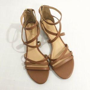 Talbots Brown Wedge Sandal - Size 9M
